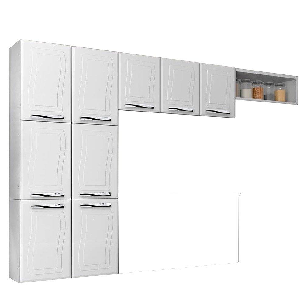 Cozinha Compacta Ipanema Fit Em A O 9 Portas Branco Colormaq Ef Cil