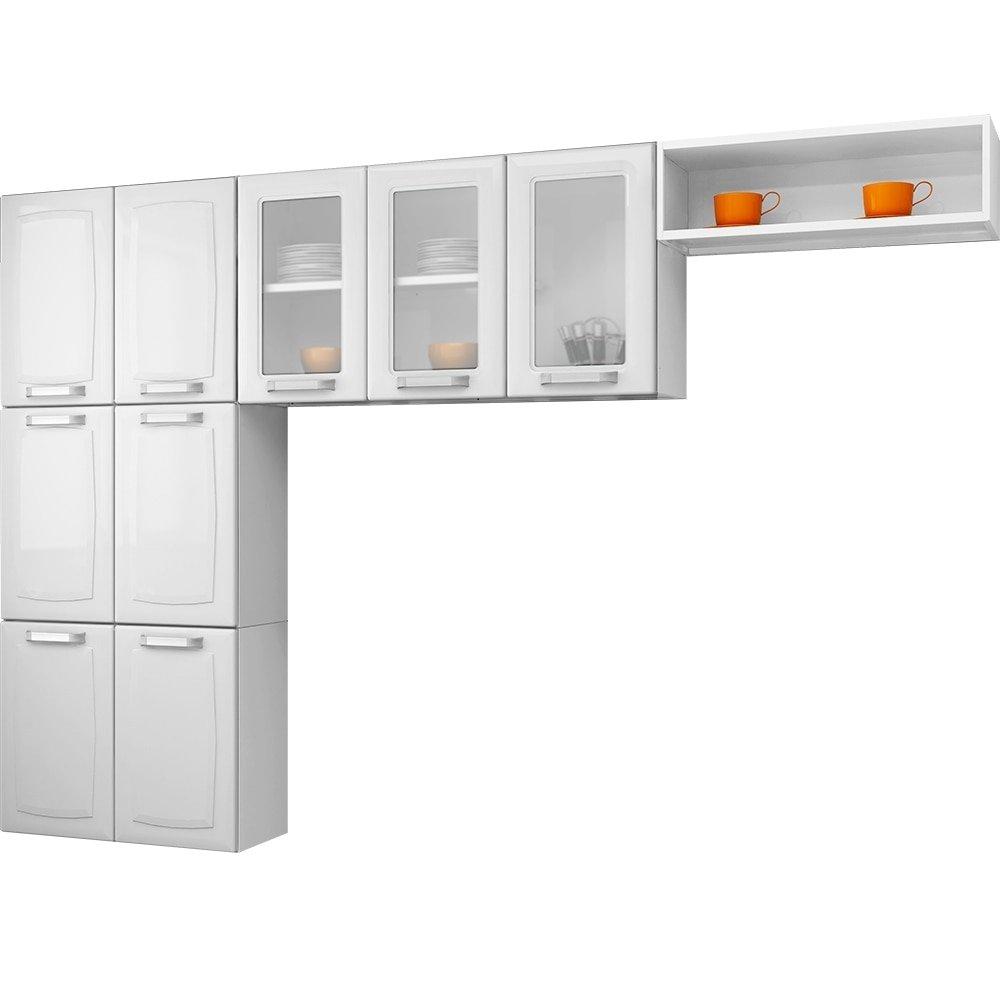 Cozinha Compacta Luce Em A O 9 Portas Branco Itatiaia Ef Cil