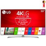 Smart TV LED 55' LG 55UJ6545 4K Ultra HD HDR com Wi-Fi 2 USB 4 HDMI DTV IPS e 120Hz