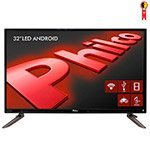Smart TV Android 32' LED Philco PH32C10DSGWA HD com Wi-Fi 2 USB 2 HDMI