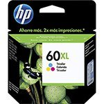 Cartucho Original HP  60XL Color CC644WB