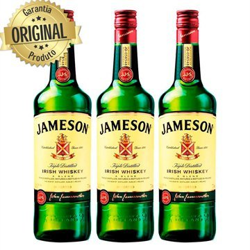 Kit com 3 Whisky Irlandês Jameson Standard Garrafa 750ml